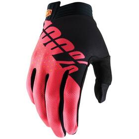 100% iTrack Handschoenen, black/fluor red